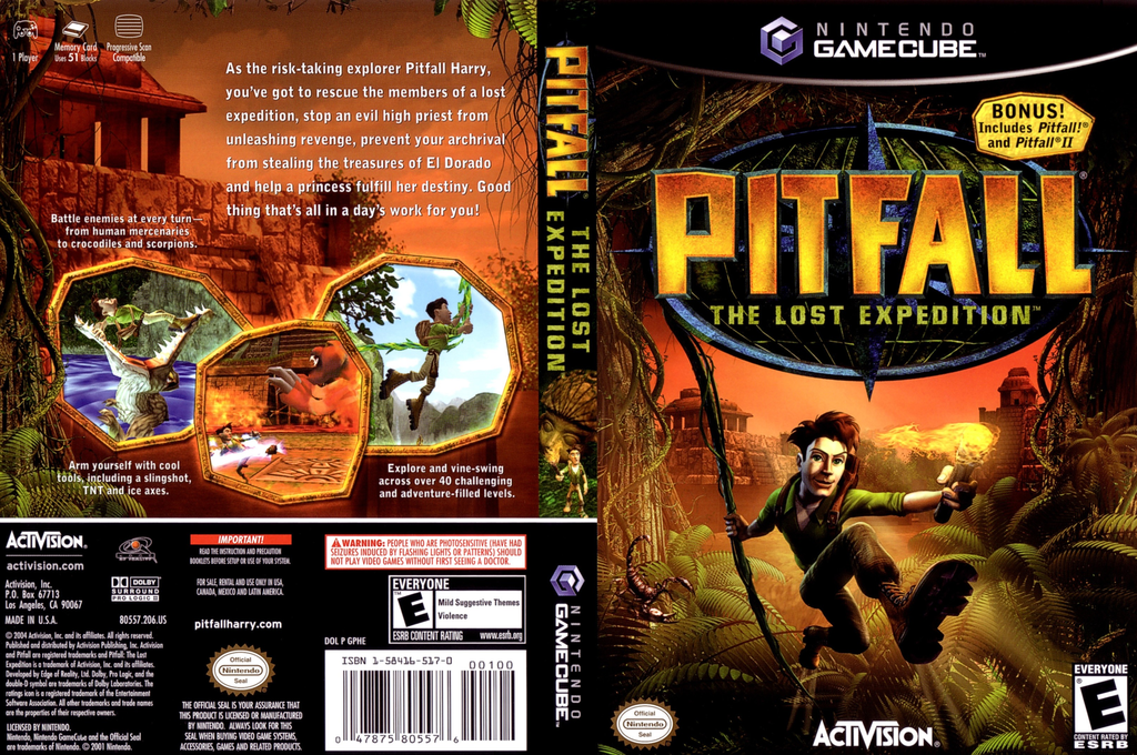 Pitfall: The Lost Expedition Wii coverfullHQ (GPHE52)