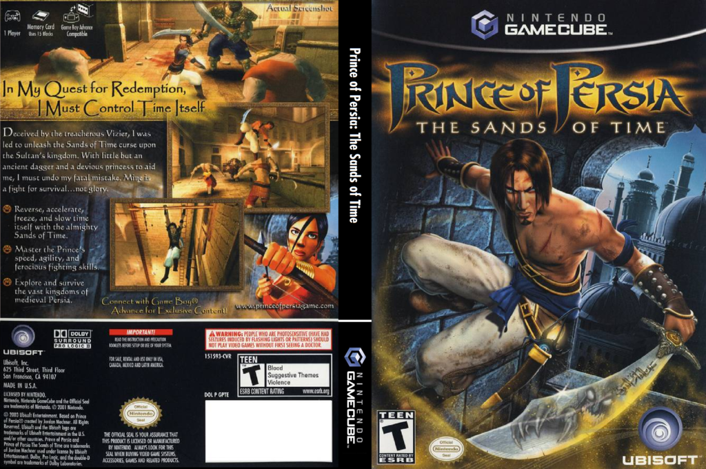Prince of Persia: The Sands of Time Wii coverfullHQ (GPTE41)