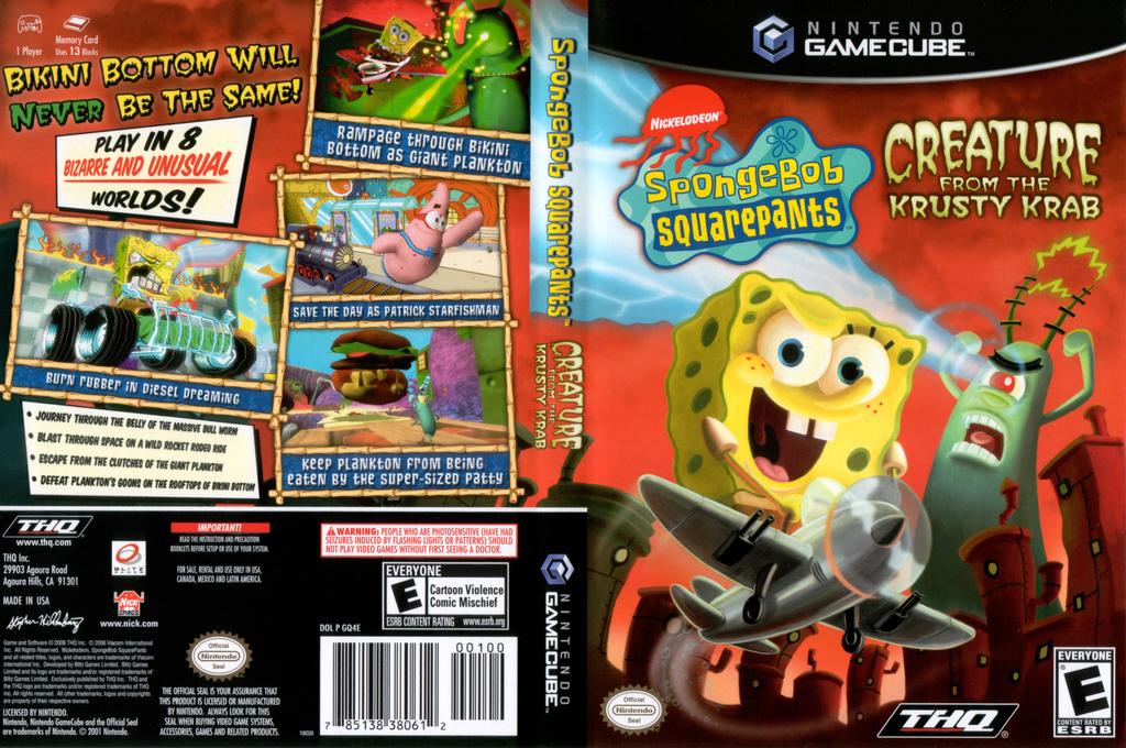 SpongeBob SquarePants: Creature from the Krusty Krab Wii coverfullHQ (GQ4E78)