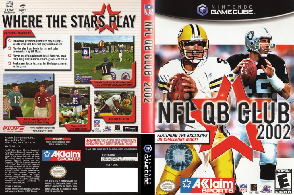 NFL Quarterback Club 2002 Array coverfullHQ (GQBE51)