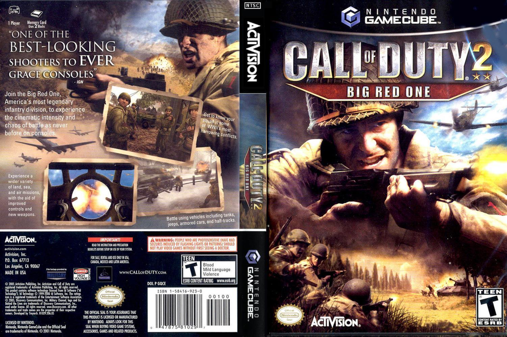 Call of Duty 2: Big Red One Wii coverfullHQ (GQCE52)