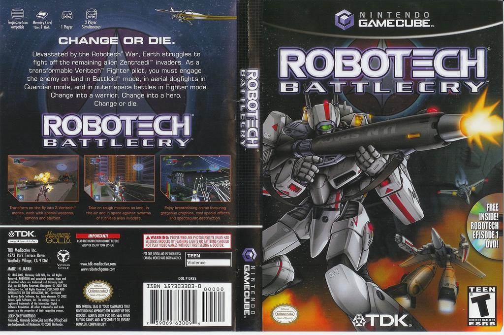 Robotech: Battlecry Wii coverfullHQ (GRBE6S)