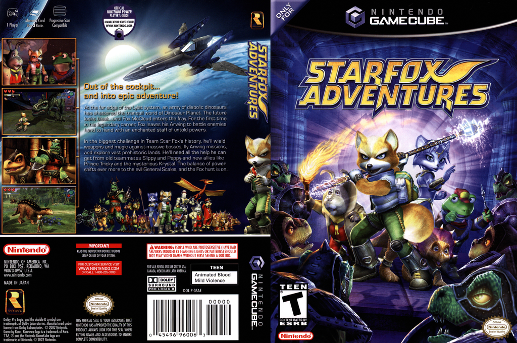 Star Fox Adventures Wii coverfullHQ (GSAE01)