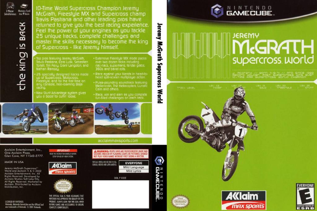 Jeremy McGrath SuperCross World Wii coverfullHQ (GSCE51)