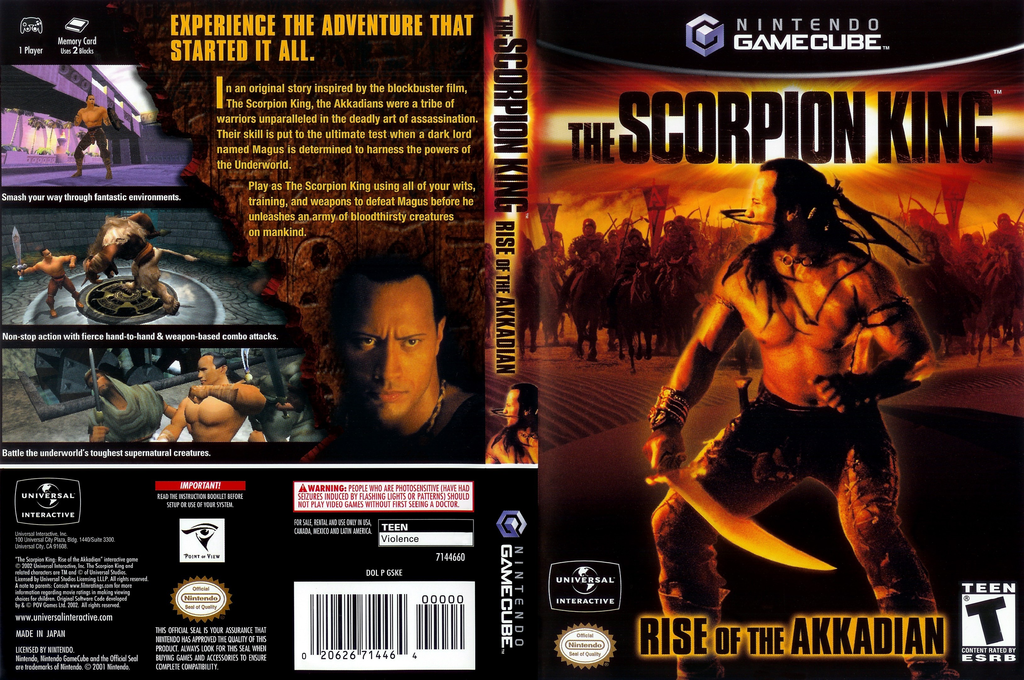 The Scorpion King: Rise of the Akkadian Wii coverfullHQ (GSKE7D)