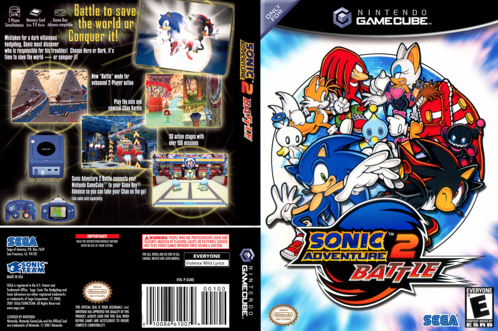Sonic Adventure 2: Battle Wii coverfullHQ (GSNE8P)