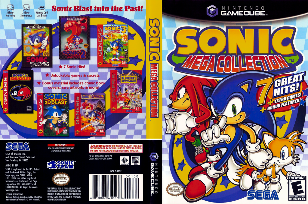 Sonic Mega Collection Wii coverfullHQ (GSOE8P)