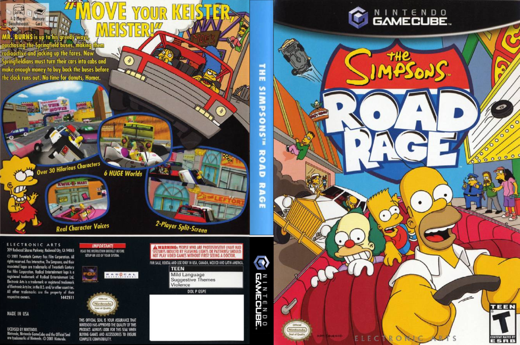 The Simpsons: Road Rage Wii coverfullHQ (GSPE69)