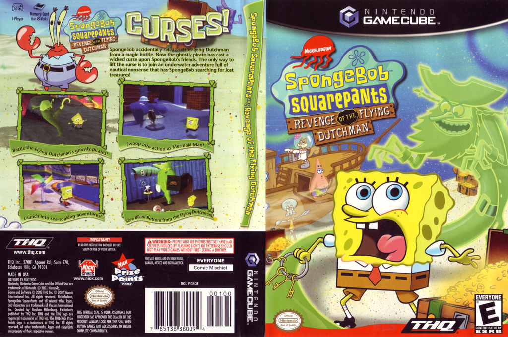 SpongeBob SquarePants: Revenge of the Flying Dutchman Wii coverfullHQ (GSQE78)