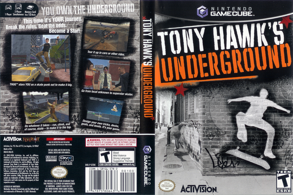 Tony Hawk's Underground Array coverfullHQ (GTDE52)