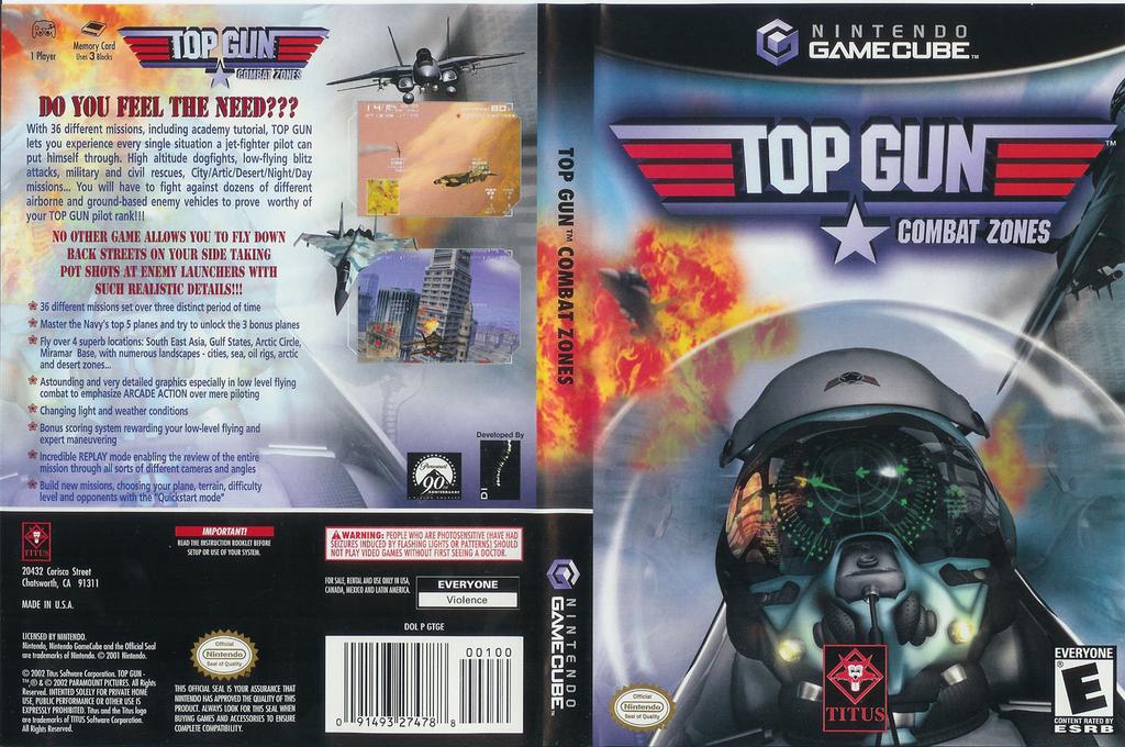 Top Gun: Combat Zones Wii coverfullHQ (GTGE60)