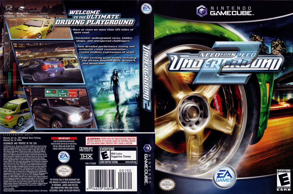 Need for Speed: Underground 2 Wii coverfullHQ (GUGE69)