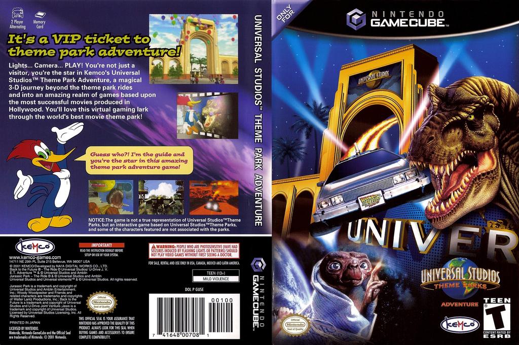 Universal Studios Theme Park Adventure Wii coverfullHQ (GUSE7F)