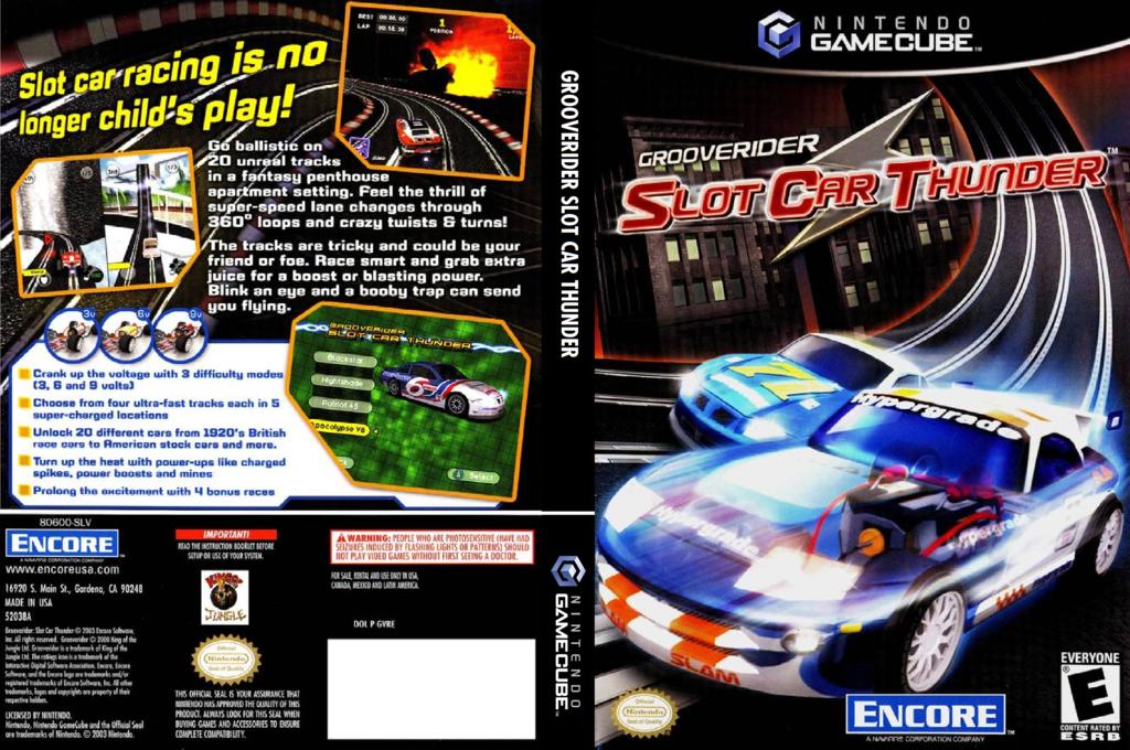 Grooverider Slot Car Thunder Wii coverfullHQ (GVRE7H)