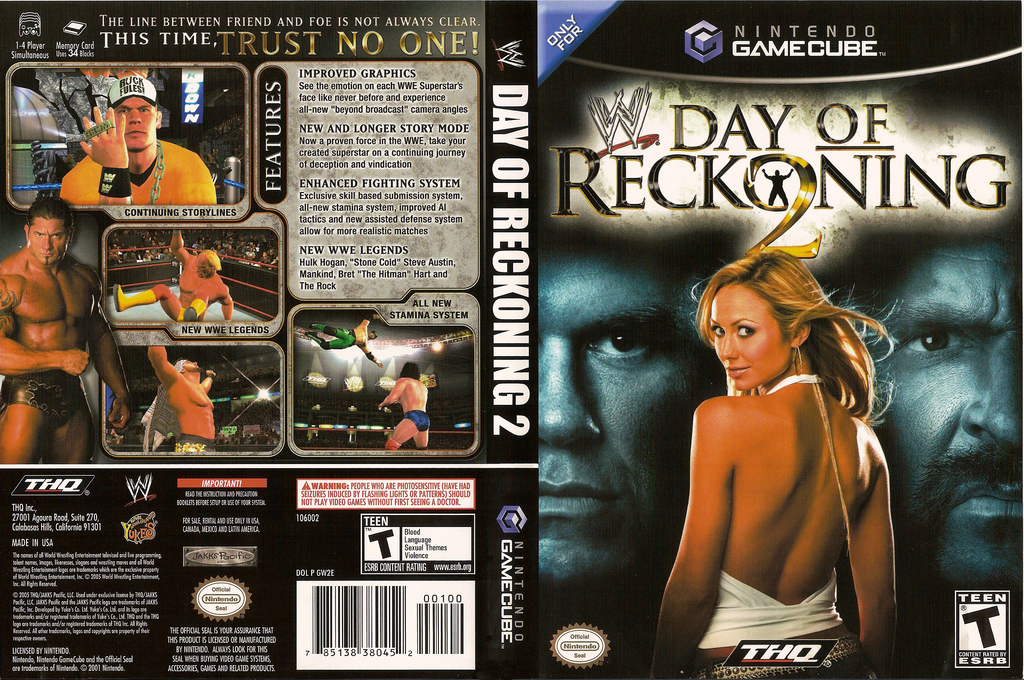 WWE Day of Reckoning 2 Wii coverfullHQ (GW2E78)