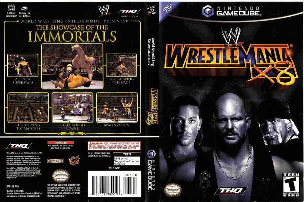 WWE WrestleMania X8 Wii coverfullHQ (GW3E78)