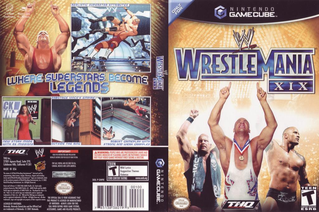 WWE WrestleMania XIX Wii coverfullHQ (GW9E78)