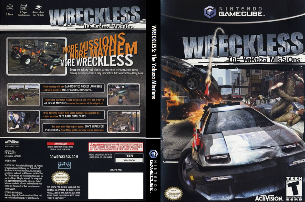 Wreckless: The Yakuza Missions Wii coverfullHQ (GWQE52)