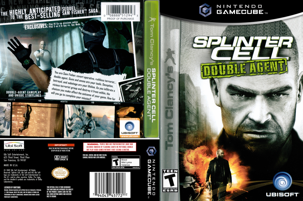 Tom Clancy's Splinter Cell: Double Agent Wii coverfullHQ (GWYE41)