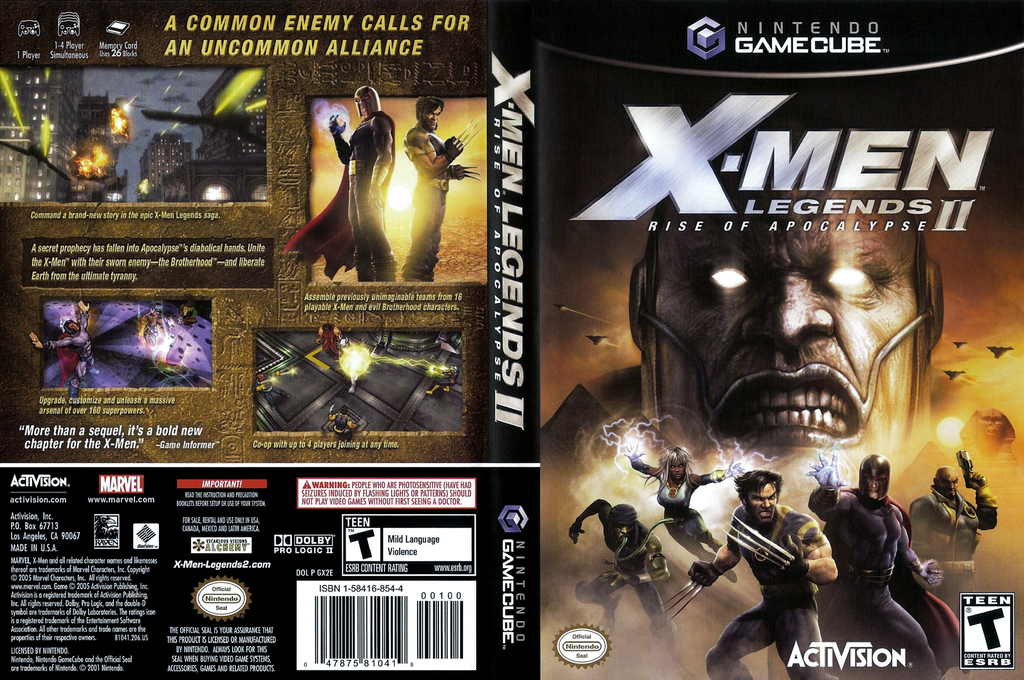 X-Men Legends II: Rise of Apocalypse Wii coverfullHQ (GX2E52)