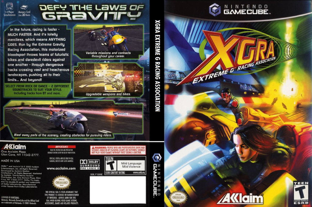 XGRA Extreme G Racing Association Wii coverfullHQ (GXAE51)