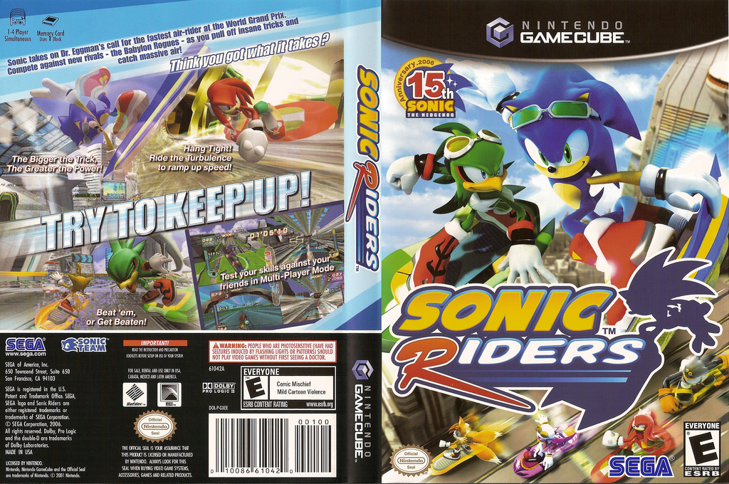 Sonic Riders Wii coverfullHQ (GXEE8P)