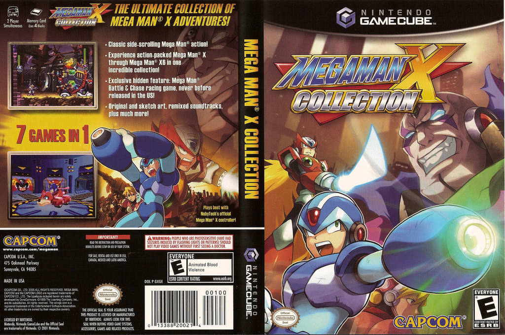 Mega Man X Collection Wii coverfullHQ (GXGE08)