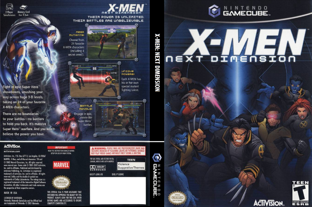 X-Men: Next Dimension Wii coverfullHQ (GXME52)