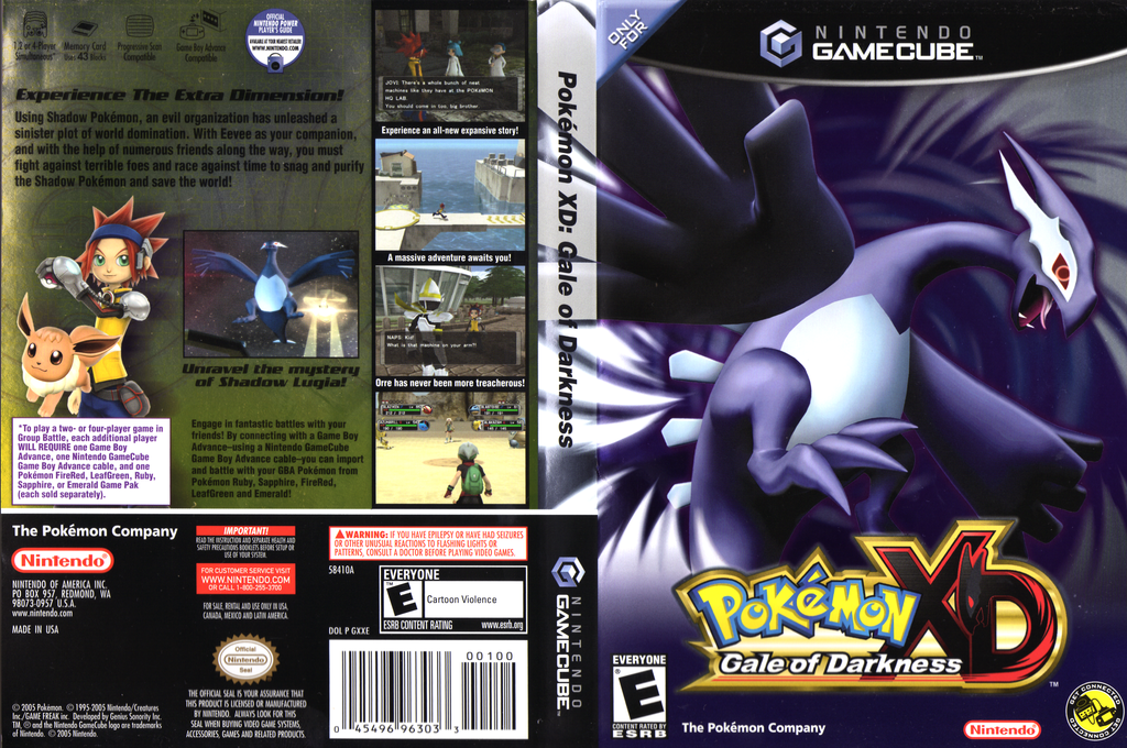 Pokémon XD: Gale of Darkness Array coverfullHQ (GXXE01)