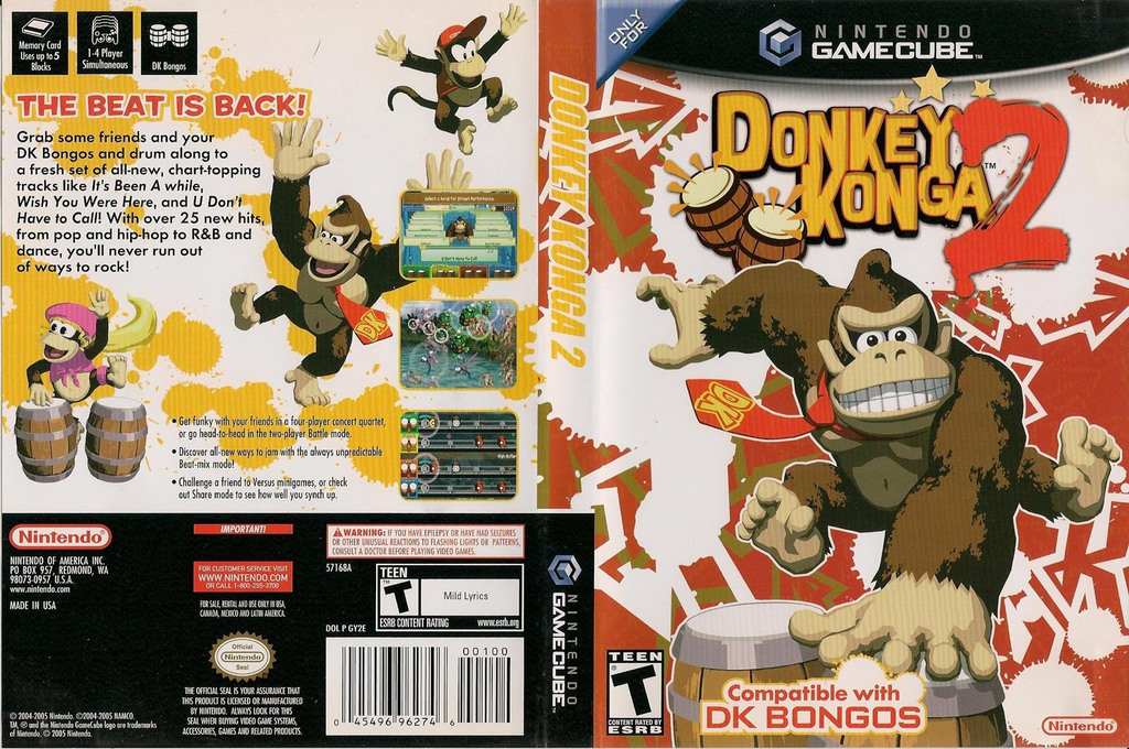 Donkey Konga 2 Wii coverfullHQ (GY2E01)