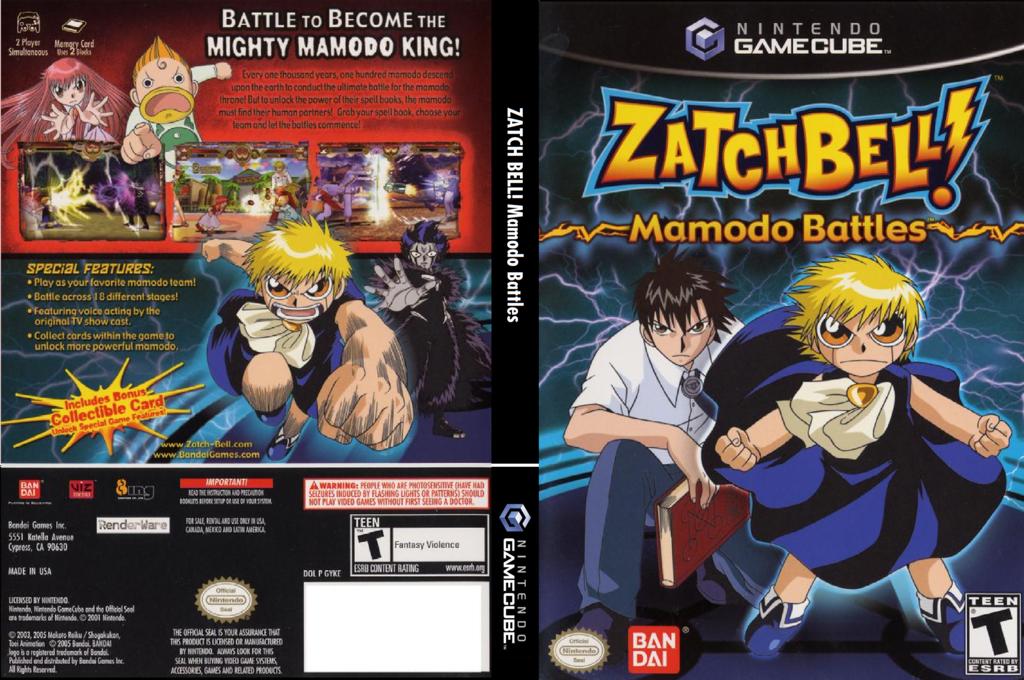 Zatch Bell! Mamodo Battles Wii coverfullHQ (GYKEB2)