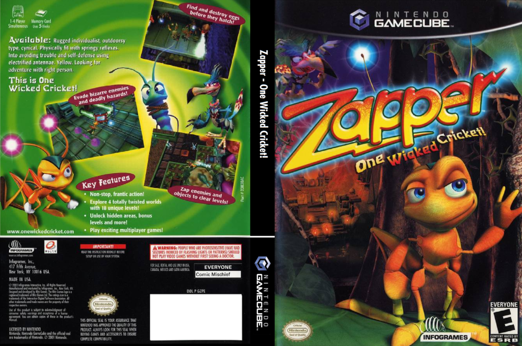 Zapper - One Wicked Cricket! Wii coverfullHQ (GZPE70)