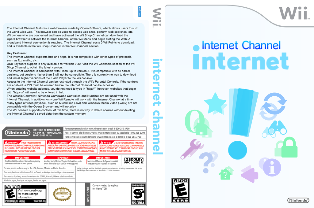 Internet Channel Wii coverfullHQ (HADE)