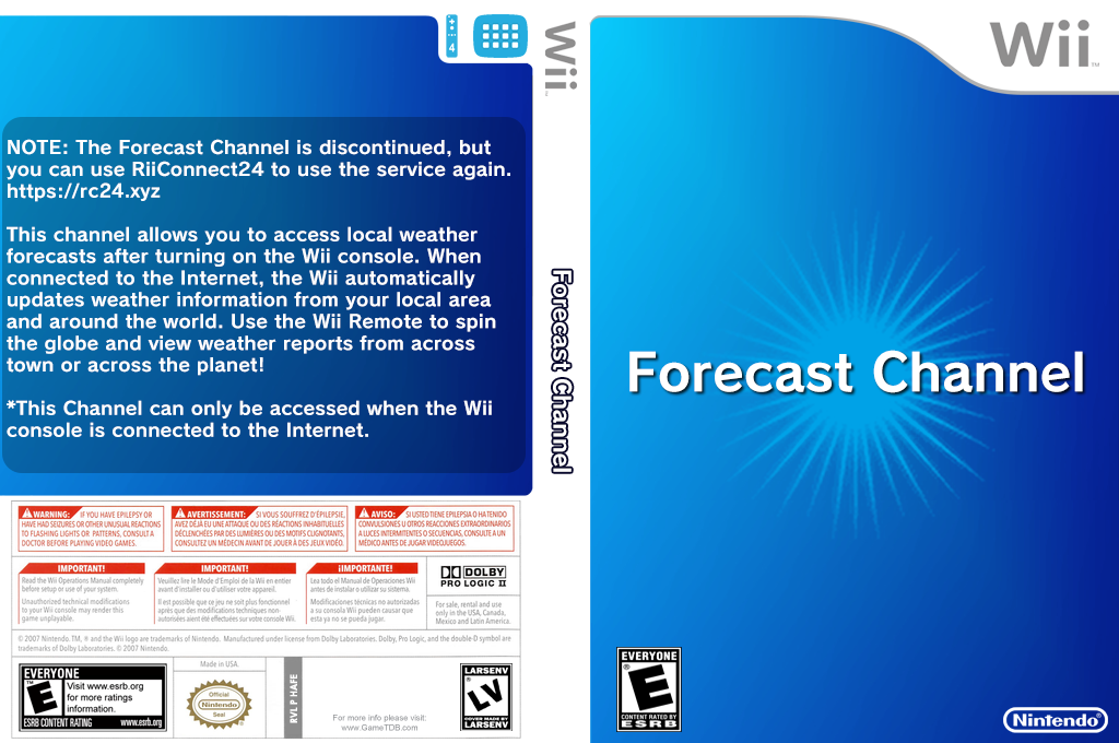 Forecast Channel Wii coverfullHQ (HAFE)