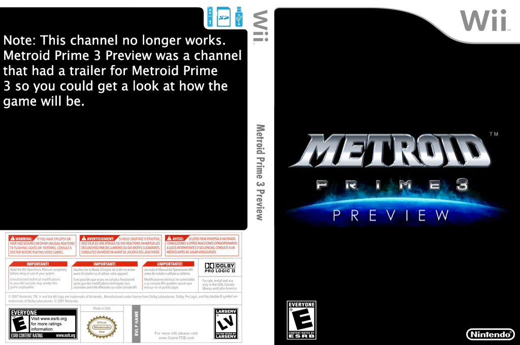 Metroid Prime 3 Preview Wii coverfullHQ (HAWE)