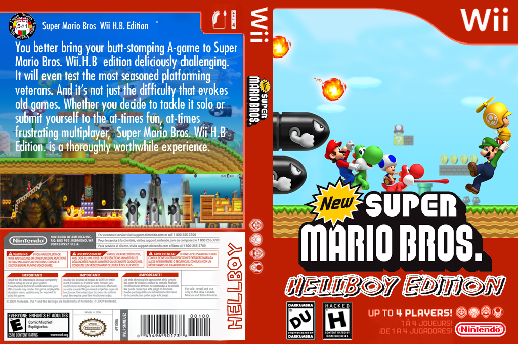 New Super Mario Bros. Wii: Hellboy Edition Wii coverfullHQ (HBWE01)