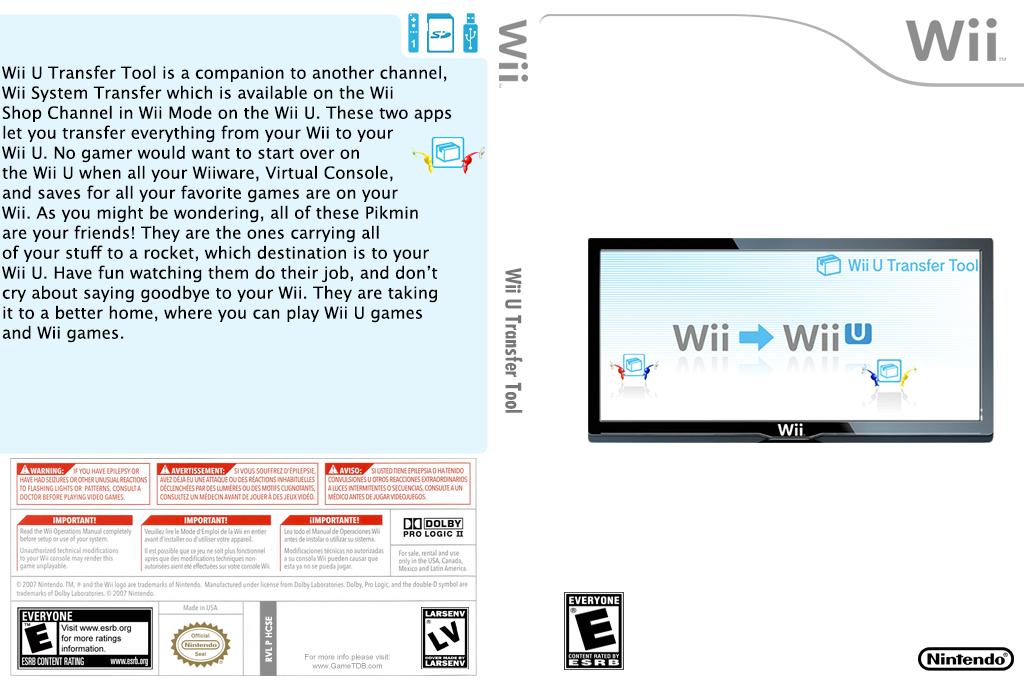 Wii U Transfer Tool Wii coverfullHQ (HCSE)