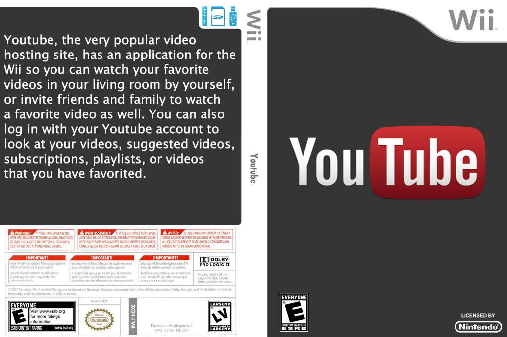 YouTube Wii coverfullHQ (HCXE)