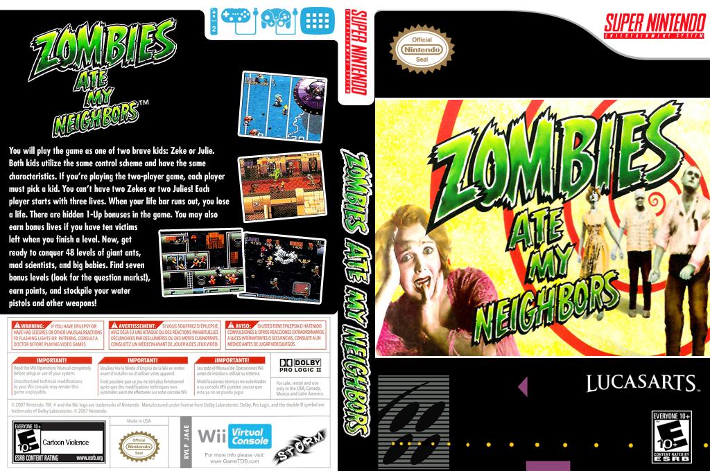 Zombies Ate My Neighbors Wii coverfullHQ (JA6E)