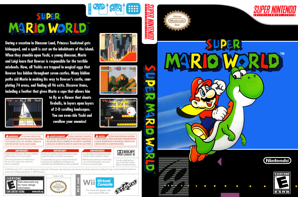 Super Mario World Wii coverfullHQ (JAAE)
