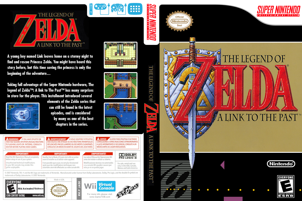 The Legend of Zelda: A Link to the Past Wii coverfullHQ (JADE)