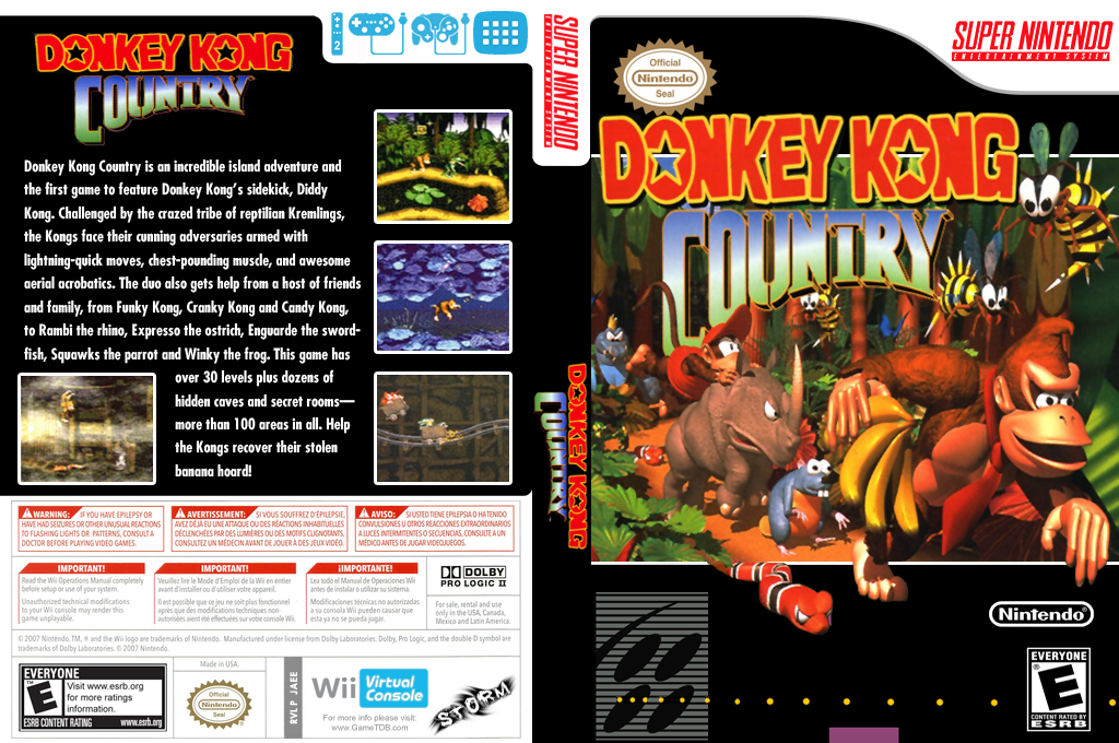 Donkey Kong Country Wii coverfullHQ (JAEE)