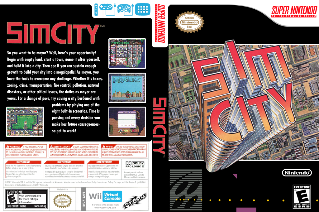 Sim City Wii coverfullHQ (JAFE)