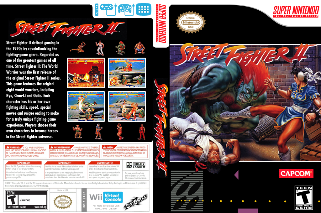 Street Fighter II: The World Warrior Wii coverfullHQ (JAJE)
