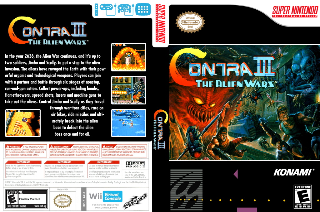 Contra III: The Alien Wars Array coverfullHQ (JALE)