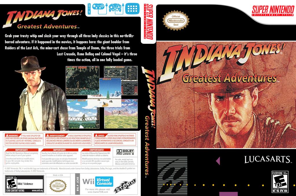 Indiana Jones' Greatest Adventures Wii coverfullHQ (JC4E)