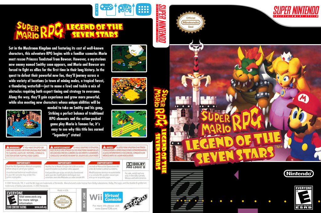 Super Mario RPG: Legend of the Seven Stars Wii coverfullHQ (JCBE)