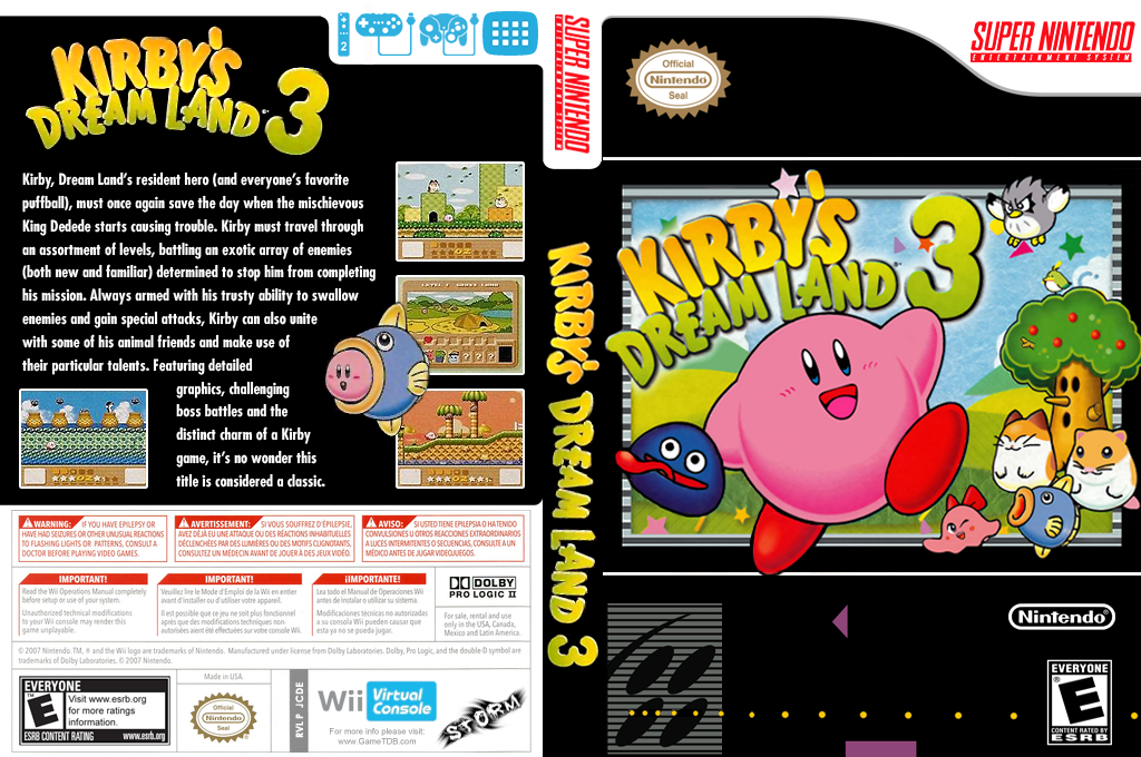 Kirby's Dream Land 3 Wii coverfullHQ (JCDE)