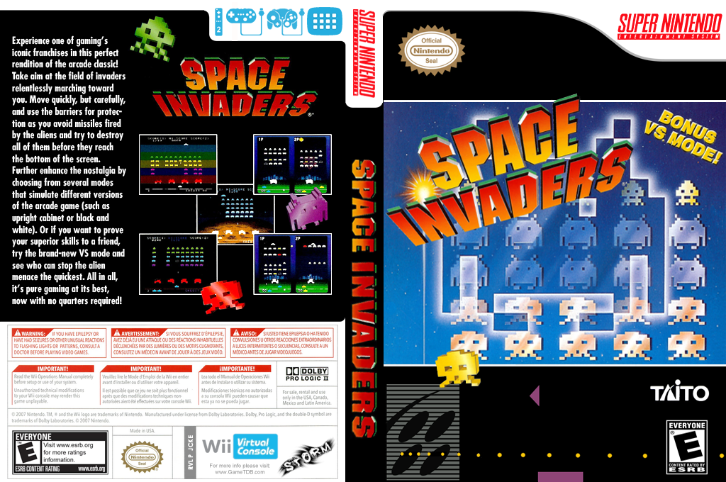 Space Invaders: The Original Game Wii coverfullHQ (JCKE)