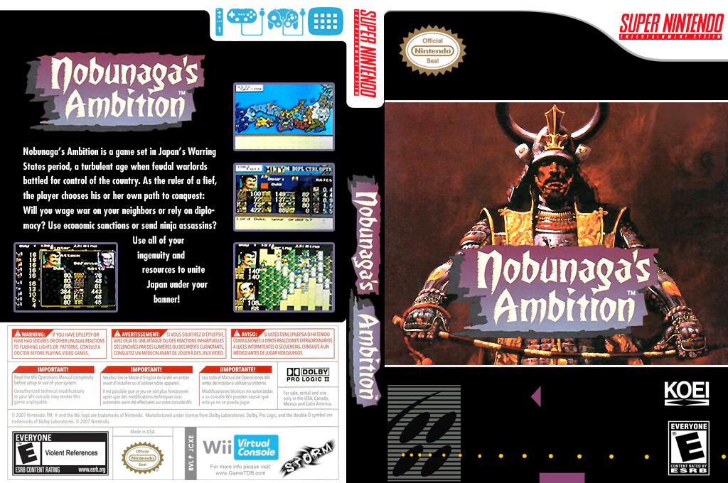 Nobunaga's Ambition Wii coverfullHQ (JCXE)